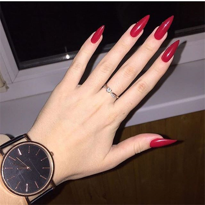 Best Red Nails Ideas ;Red Nails ;Nails ;Fashion #BestRedNailsIdeas #RedNails #Nails #Fashion