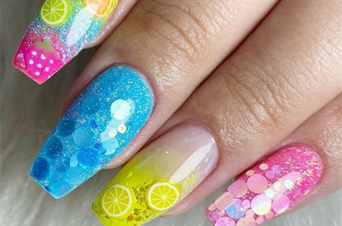 Cute & Stylish Summer Nails ;Summer Nails ;Nails #Cute&StylishSummerNails #SummerNails #Nails