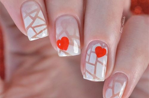 Best Heart Nails Ideas ;Heart Nails ;Nails ;Fashion #BestHeartNailsIdeas #HeartNails #Nails #Fashion