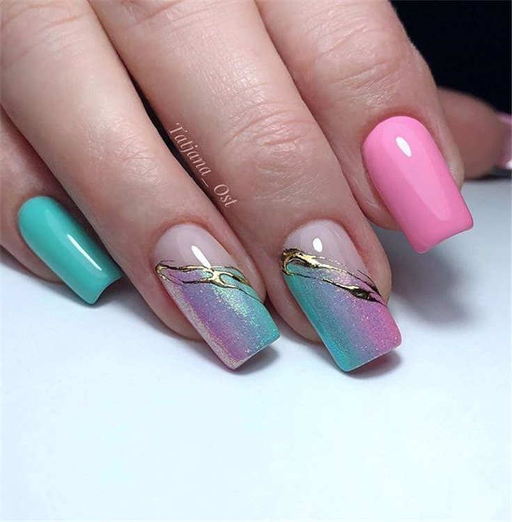Coolest Square Nail Designs You Must Love ;Coolest Square Nail Designs ;Square Nail ;Nail Designs #CoolestSquareNailDesignsYouMustLove #CoolestSquareNailDesigns #SquareNail #NailDesigns